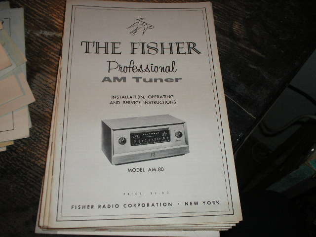 AM-80 Tuner Owners Service Manual  Fisher