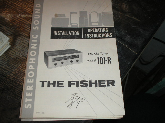101-R FM-AM Tuner Operating Manual  Fisher
