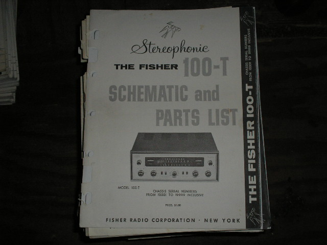 100-T Tuner Service Manual for Serial no. 10001 - 19999  Fisher