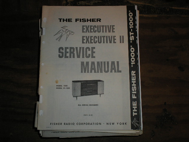 1000 Executive Home Stereo Service Manual