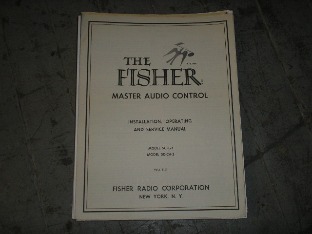 50-C-3 50-CH-3 Audio Controller Service Manual  Fisher