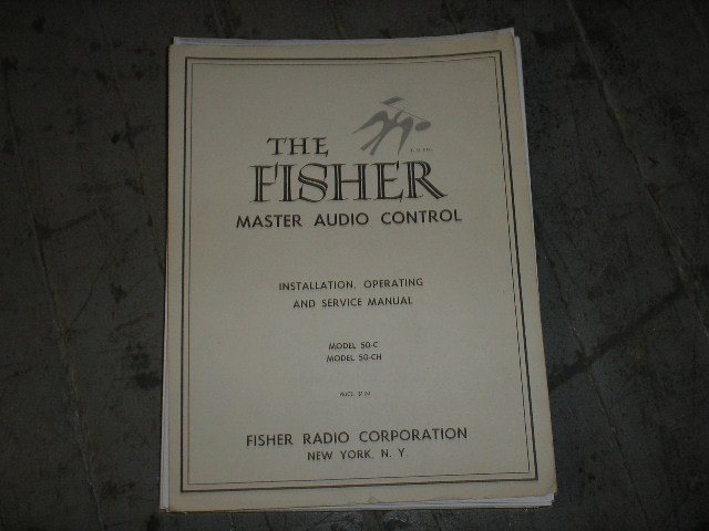 50-C 50-CH Audio Controller Service Manual  Fisher