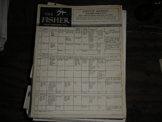 70-RT Manual 1 Service Manual  Fisher