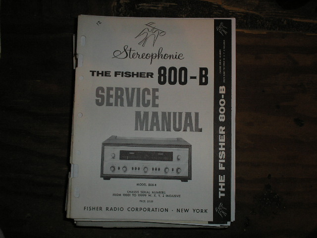 800-B Receiver Service Manual from Serial no. 10001 - 19999 WXYZ INCLUSIVE