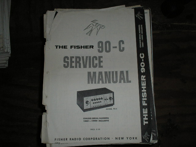 90-C Pre-Amplifier Service Manual Serial Number 10001 - 19999  Fisher