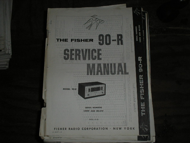 90-R Tuner Service Manual Serial Number 19999  and below..  Fisher