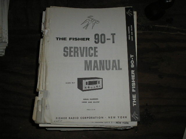 90-T Tuner Service Manual Serial Number 19999 and below  Fisher