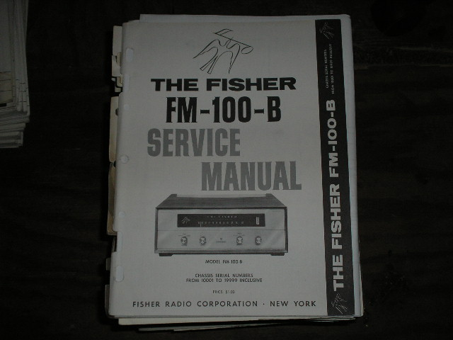 FM-100-B Tuner Service Manual for Serial no. 10001 - 19999  Fisher
