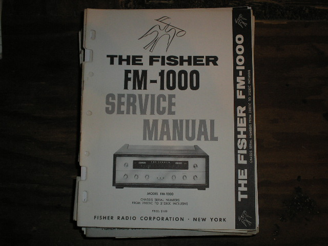 FM-1000 Tuner Service Manual from Serial no. 10001 - 19999  Fisher