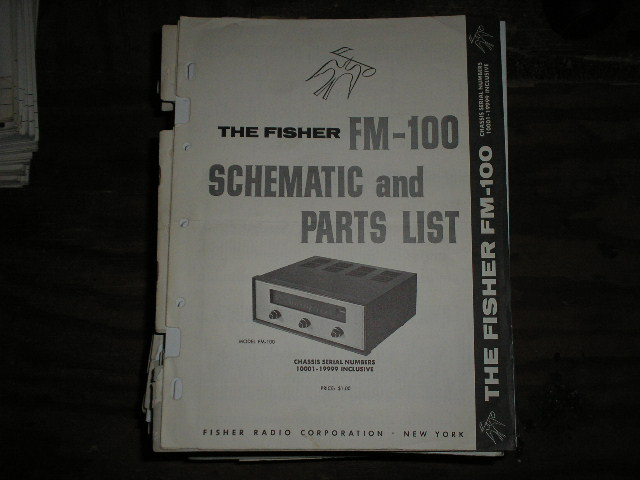FM-100 Tuner Service Manual for Serial no. 10001 - 19999  Fisher