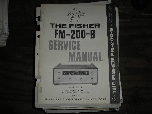FM-200-B Tuner Service Manual for Serial no. 50001 - 59999  Fisher