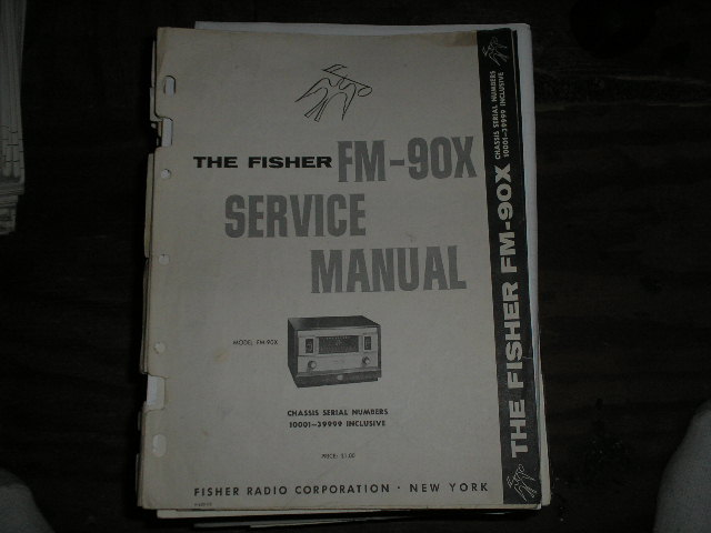 FM-90-X  Tuner Service Manual for Serial no. 10001 - 39999  Fisher