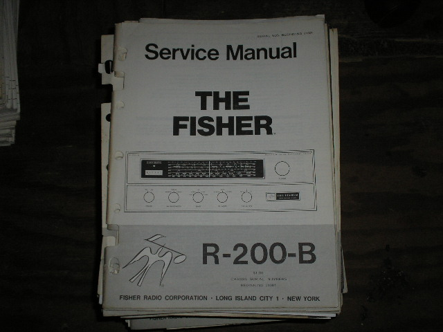 R-200-B Tuner Service Manual for Serial no. 21001 & UP  Fisher