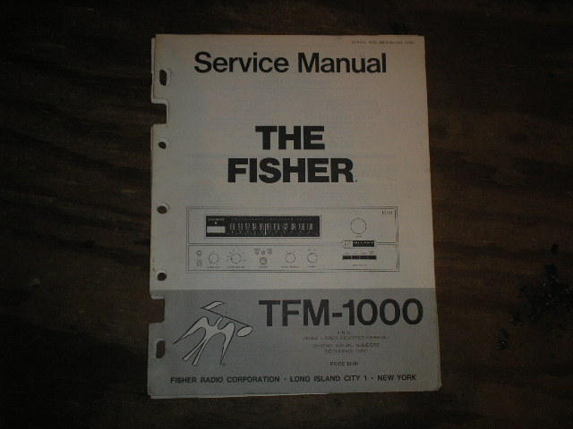 TFM-1000 FMR-2 Tuner Service Manual from Serial no. 10001  Fisher