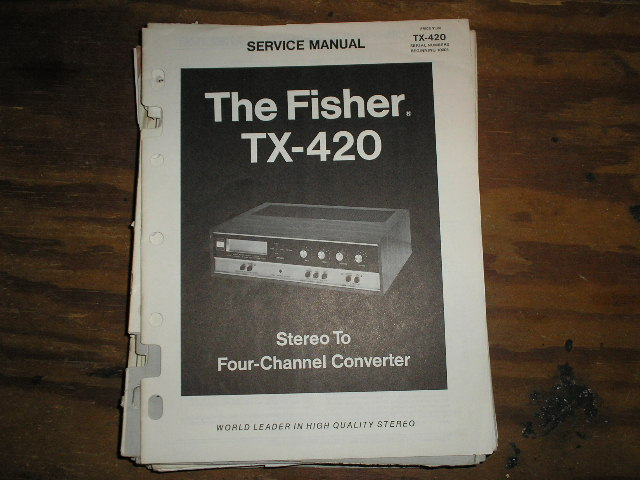 TX-420 8-TRACK PLAYER Service Manual