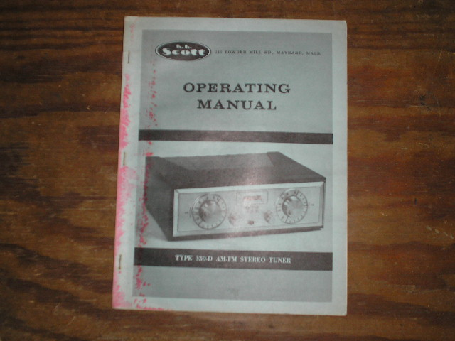 330-D Tuner Operating Manual  Scott