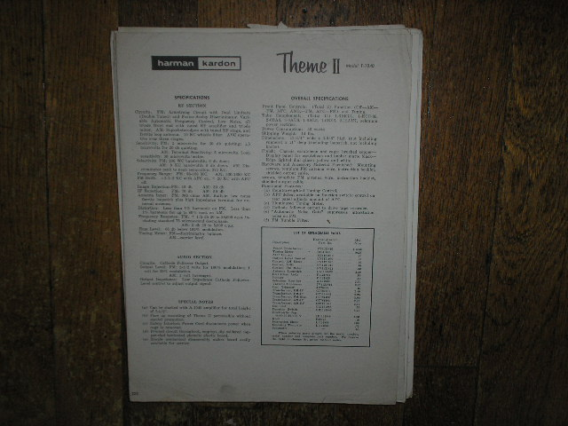 T-1040 The Theme Tuner Service Manual   Harman Kardon