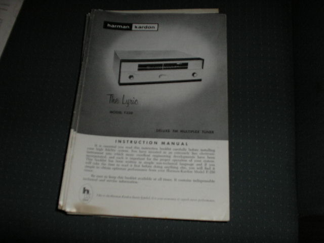 F250 Tuner Service Manual  Harman Kardon