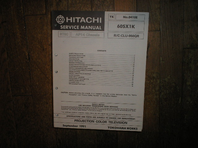 60SX1K Projection TV Service Manual AP14 Chassis