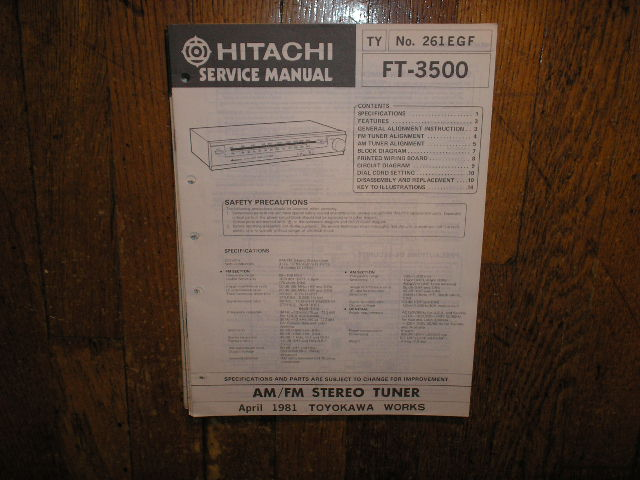 FT-3500 Tuner Service Manual  Hitachi