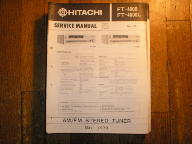 FT-4000 FT-4000L Tuner Service Manual  Hitachi