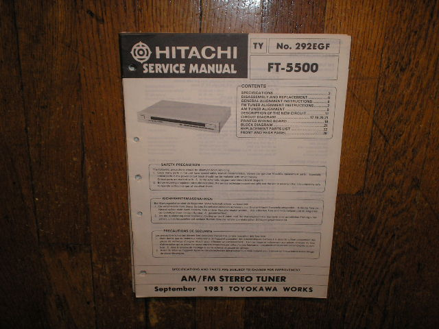 FT-5500 Tuner Service Manual  Hitachi
