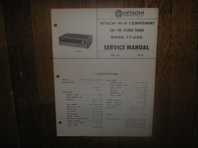 FT-600 Tuner Service Manual  Hitachi