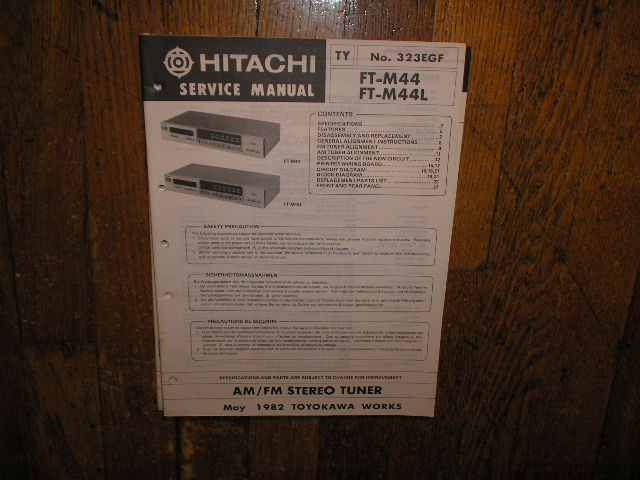 FT-M44 FT-M44L Tuner Service Manual  Hitachi