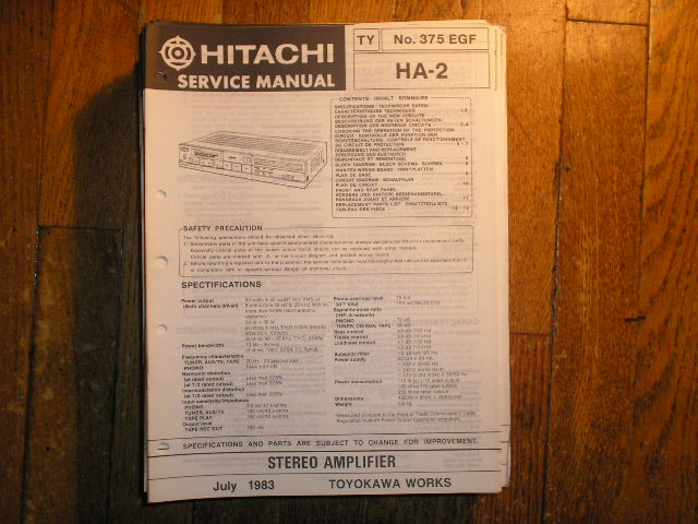 HA-2 Stereo Amplifier Service Manual