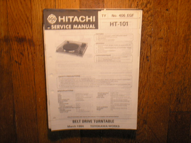 HT-101 Belt Drive Turntable Service Manual