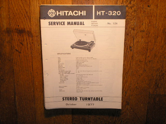 HT-320 Belt Drive Turntable Service Manual