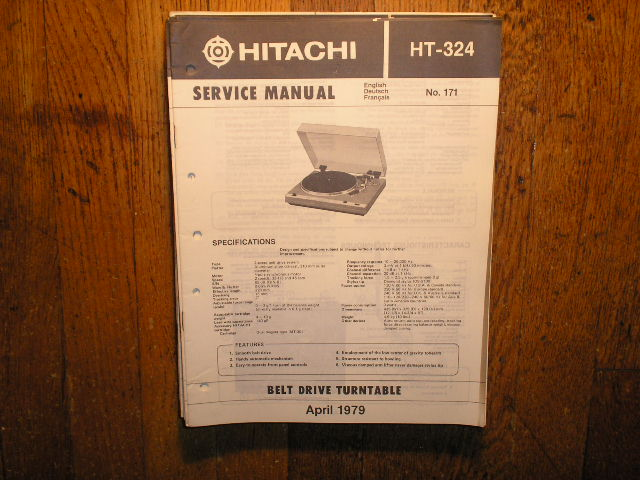 HT-324 Belt Drive Turntable Service Manual