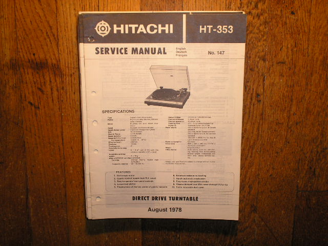 HT-353 Direct Drive Turntable Service Manual....