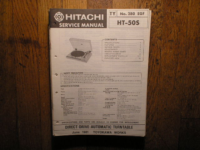 HT-50S Direct Drive Turntable Service Manual