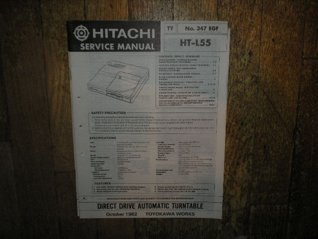HT-L55 Direct Drive Turntable Service Manual