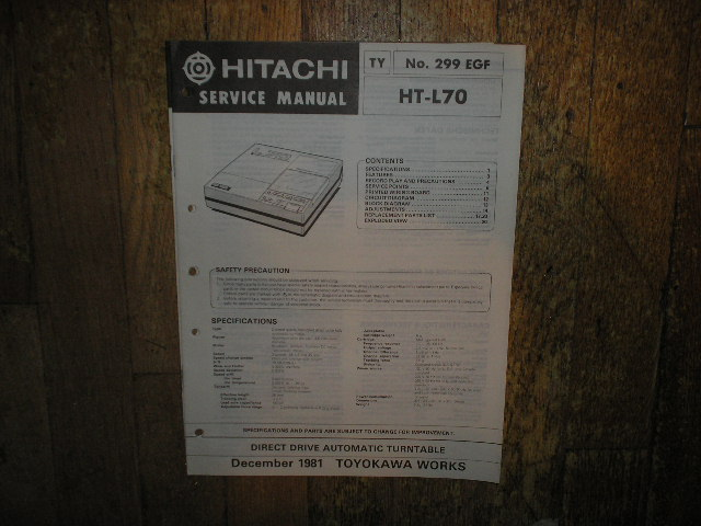 HT-L70 Turntable Service Manual