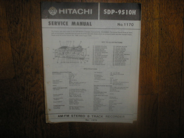 SDP-9510H  SDP-9510C Stereo System Service Manual     * USE 1170 MANUAL