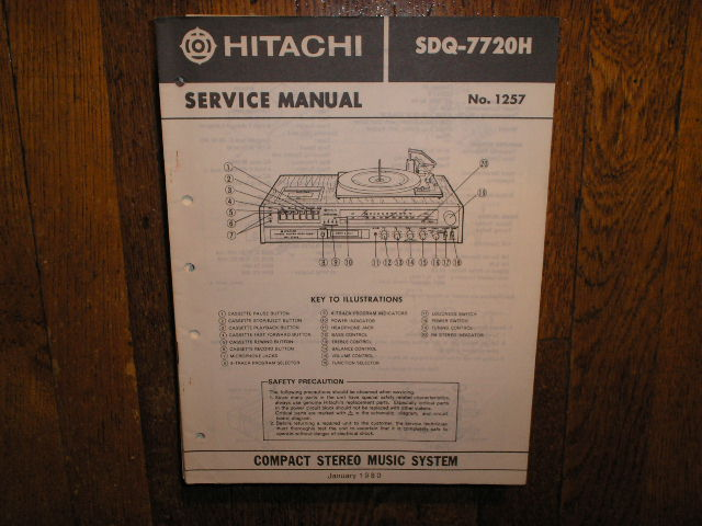 SDQ-7720H  Stereo System Service Manual
