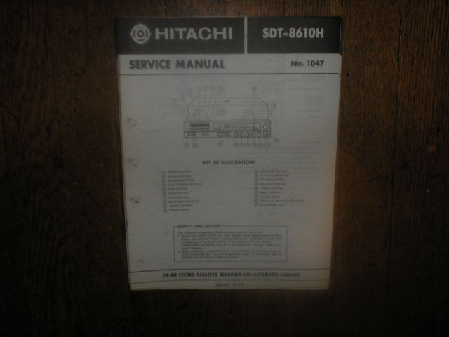 SDT-8610H  Stereo System Service Manual