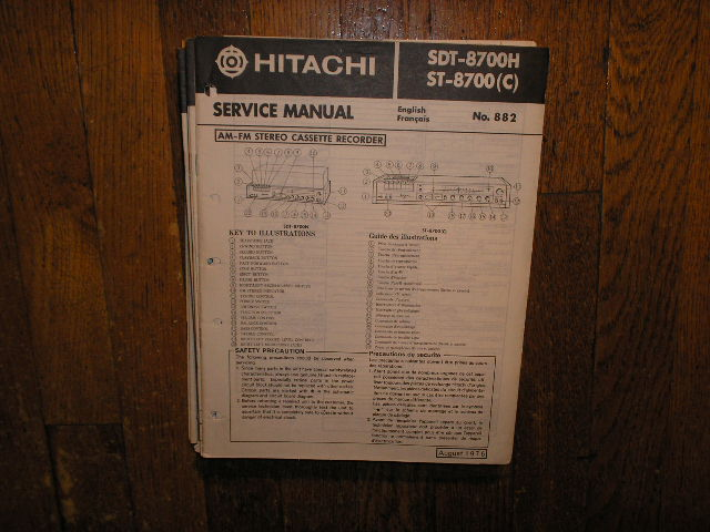 SDT-8700H ST-8700 ST-8700C   Stereo System Service Manual