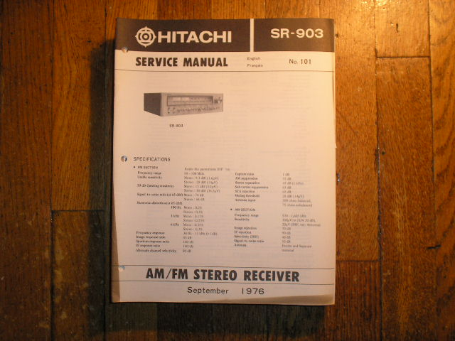 SR-903 Stereo Receiver Service Manual