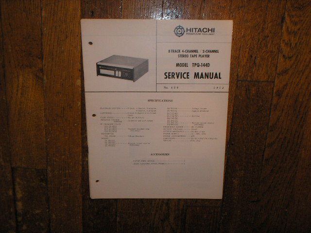 TPQ-144D 8-TRACK TAPE PLAYER  Service Manual