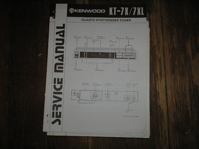 KT-7X KT-7XL Tuner Service Manual  Kenwood