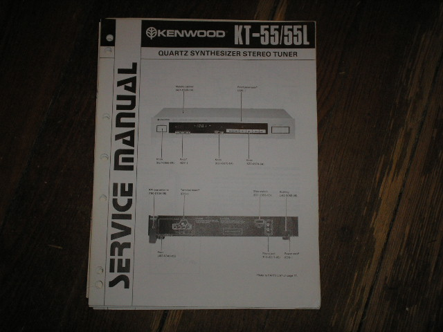 KT-55 KT-55L Tuner Service Manual  Kenwood