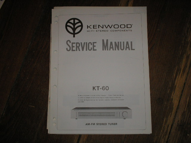 KT-60 Tuner Service Manual  Kenwood