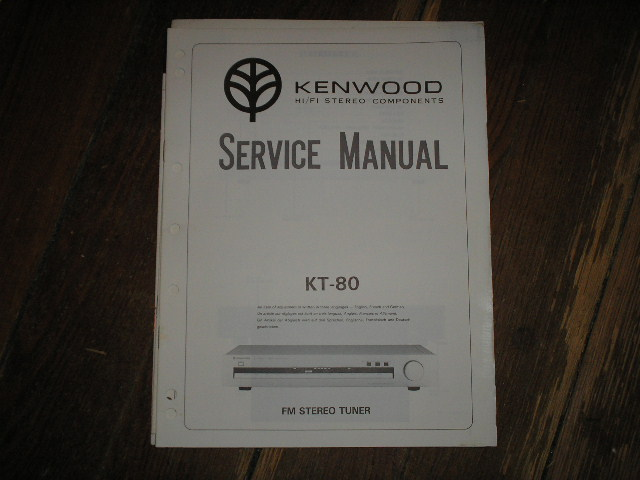 KT-80 Tuner Service Manual  Kenwood