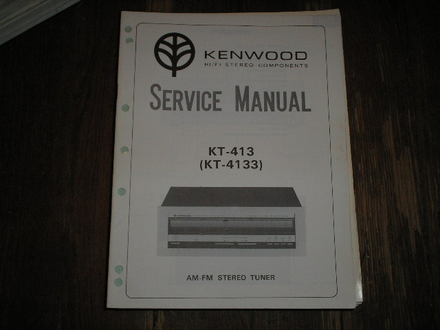 KT-413 KT-4133 Tuner Service Manual  Kenwood