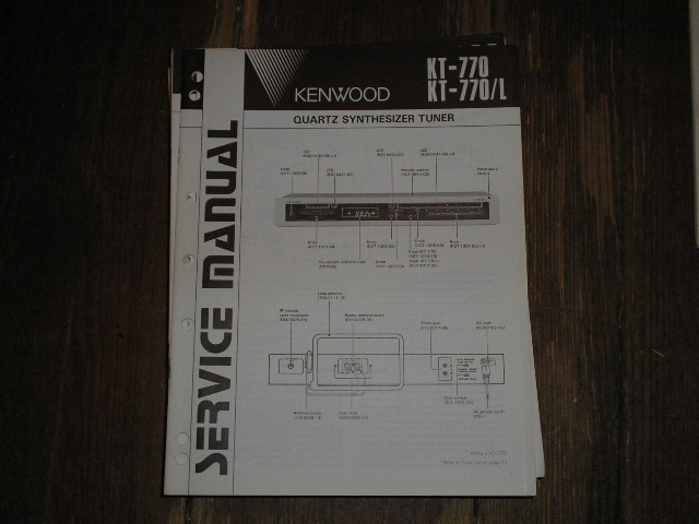 KT-770 KT-770L Tuner Service Manual  Kenwood