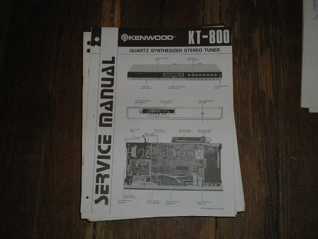 KT-800 Tuner Service Manual  Kenwood