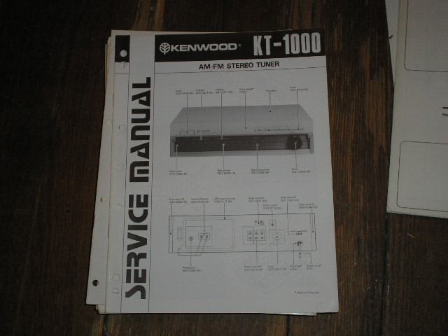 KT-1000 Tuner Service Manual  Kenwood